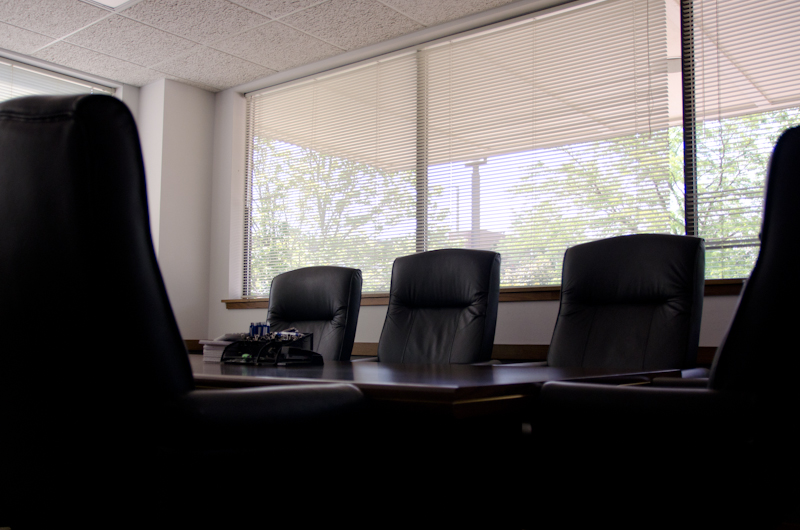 image of office chairs in a conference room